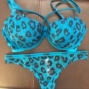 NWT Victoria's Secret PINK date pushup bra & thong